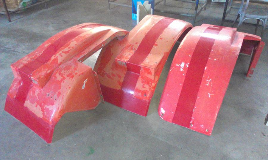rozšíření blatníků na traktor